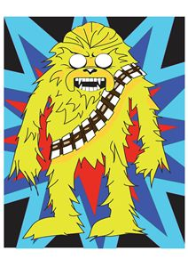 Unofficial Jake-Chewbacca Digi Art