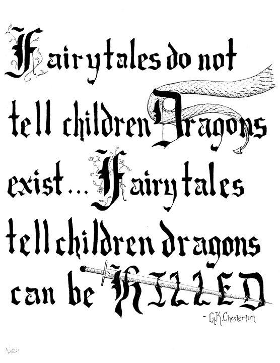 Fairy Tales and Dragons Quote - Nikolai Draws