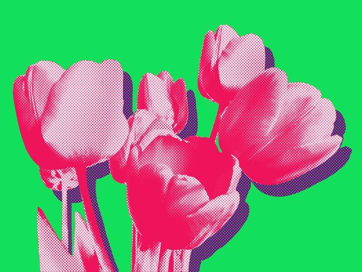 Tulips on virid - Julia Gogol Art