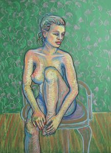 Girl on a chair / Female Nude