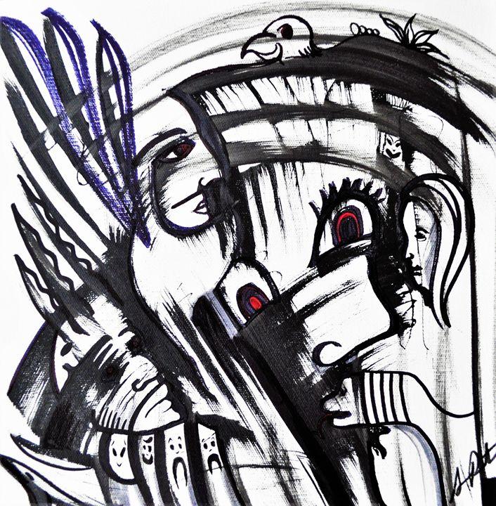 Scary Night Freedom - Armando Renteria Fine Art