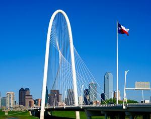 Dallas, Texas Skyline with Margaret - Jarrett Art