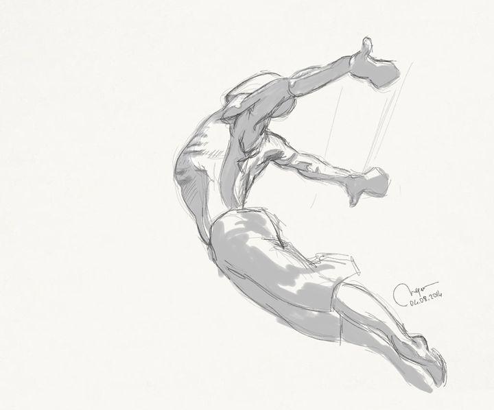 Sketch of a male figure. - BMArt