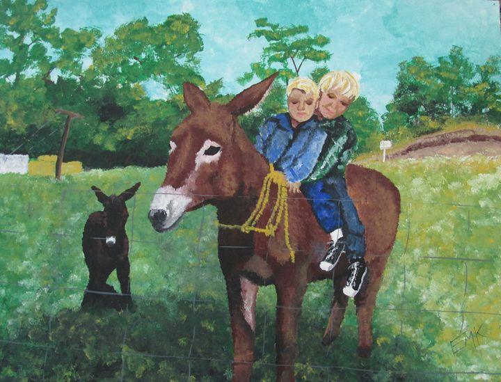 Burrow Ride - EdieMarie's Art