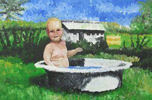 A Bath On The Dairy Farm