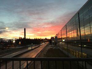 Very bright sunrise