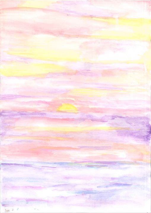 Pastel Sunset - My paintings