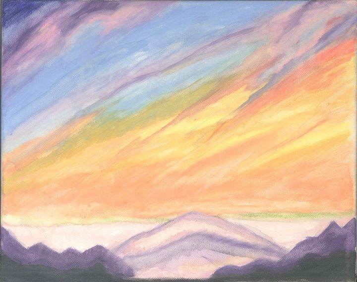 Sunrise at the mountains - My paintings