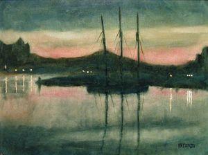 Evening Victoria Harbor