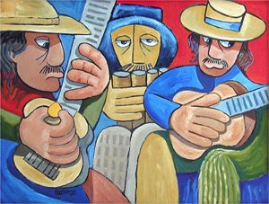 The Three Musicians   [SOLD] - Holewinski