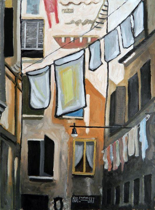 Wash Day in Venice - Holewinski