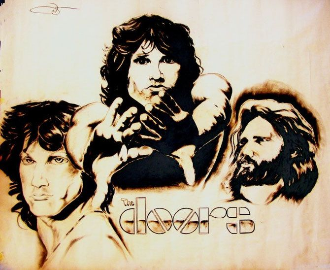 Jim Morrison From Young to Old! - Jimmie Williams Experience Charcoal Gallery