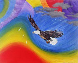 TWISTER & EAGLE FLYING