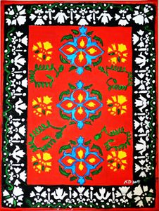 Persian Rug Inspired Painting