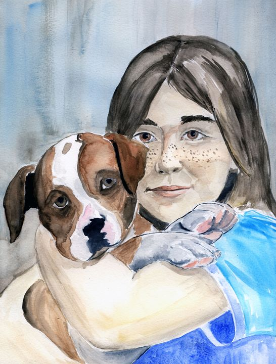 Puppy and Me - Anne's ARTS