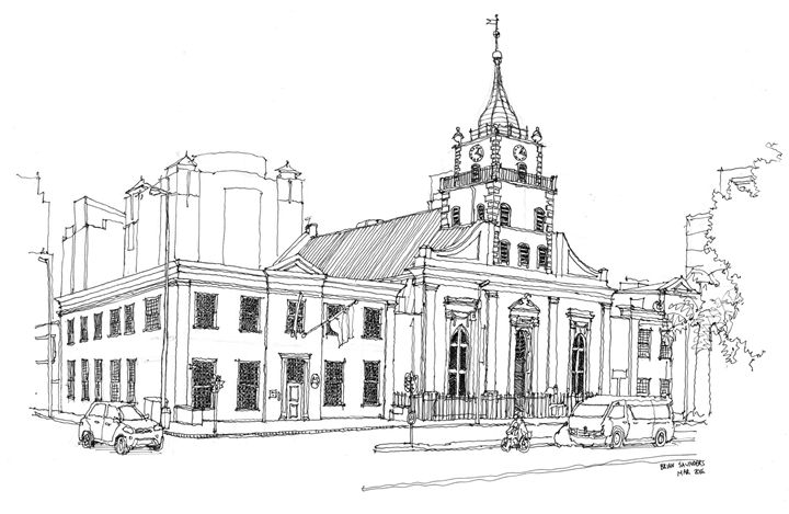 The Lutheran Church, Strand Street. - A Sketchy Process