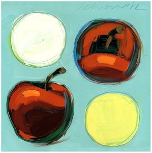 Red Apples 10x10 Modern Art