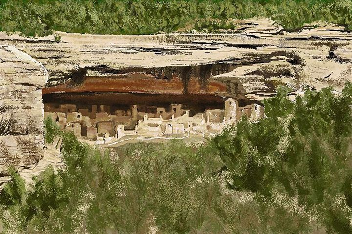 Mesa Verde Cliff Dwellings - C. K. Boyd Art