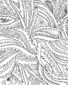 Positive words and patterns - Dorema's Doodles