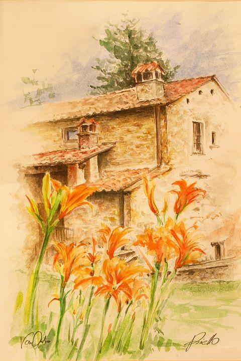 Toscan lilies - Van Orton Art