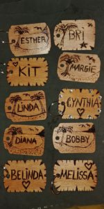 Personalized wood Key rings