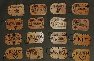 Wooden personalized keychains