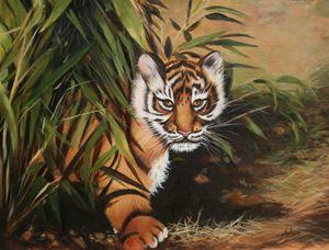 """Suma Baby 18"""" x 22"""" Oil on Canvas"""
