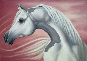 """Allah's Gift"" Arabian horse head."