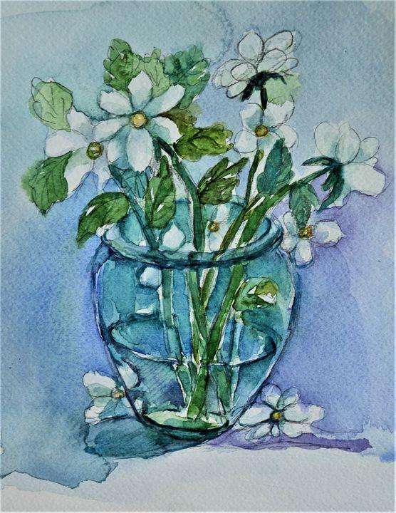 Flowers in Vase - Artmiki