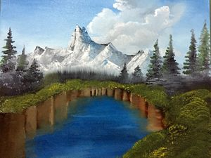 Landscape with oils