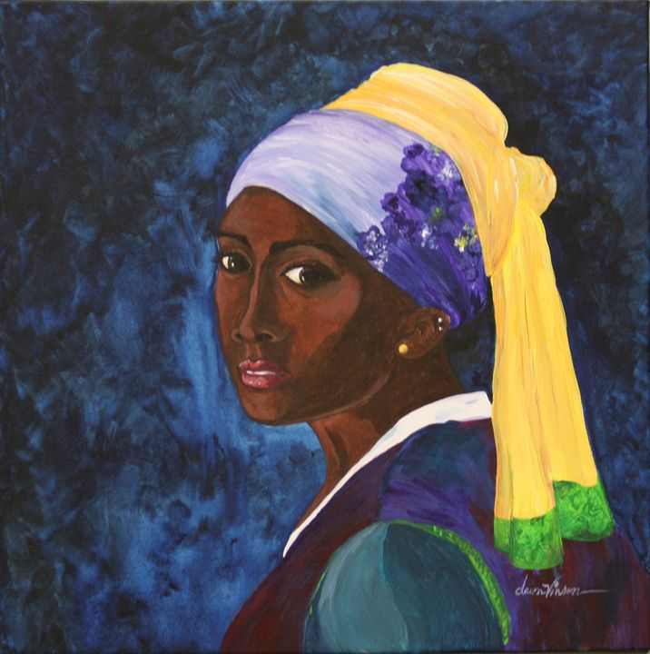 Girl with a Gold Earring - Blanc Canvas Studios
