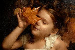 Romantic autumn portrait