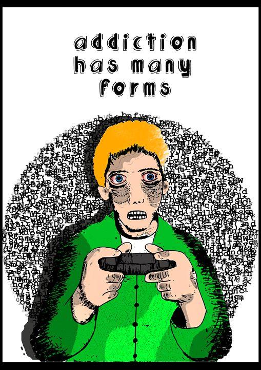 Video Game Addicts Portrait - Zaabal