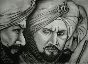 Sultan charcoal drawing 001