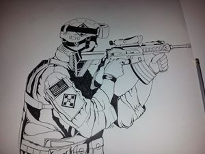 4th ID Soldier takes aim