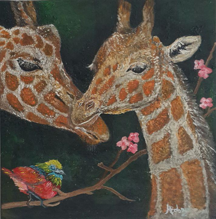 Giraffes.Wild. - AleksBabayanArt