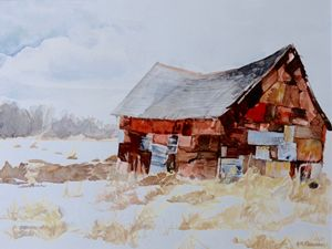 "Barn 5"" x 7"" Greeting Card Print"