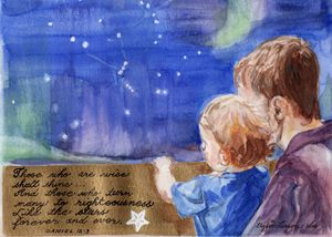 "Stars 5"" x 7"" Print Greeting Card"