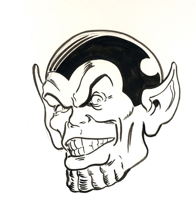 Super Skrull - Robert Berry's Drawing Table