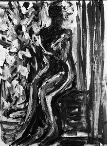 Sitting Woman Sketch by BRUNI