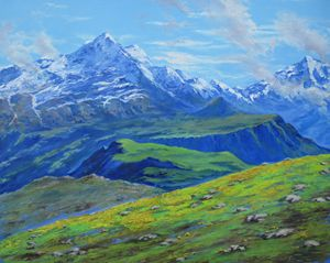 """""""Blue Mountains"""", 24in x 36in, oil"""