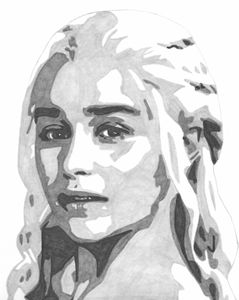 Daenery Game of Thrones Sketch