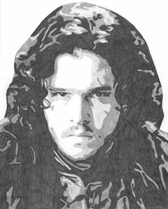Jon Snow Game of Thrones Sketch