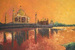 Taj Mahal bathed in evening sun