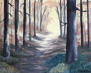 Sunlit Autumn Path