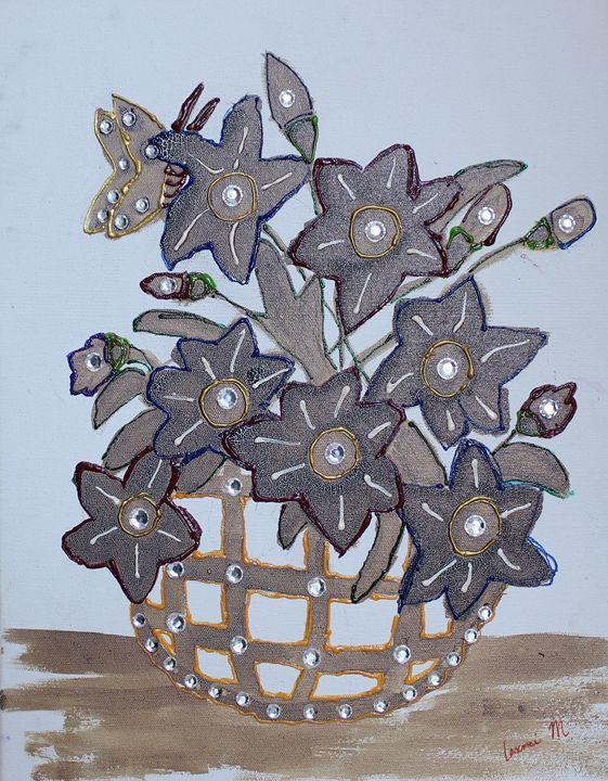 Diamond Flower Pot - Laxmi M