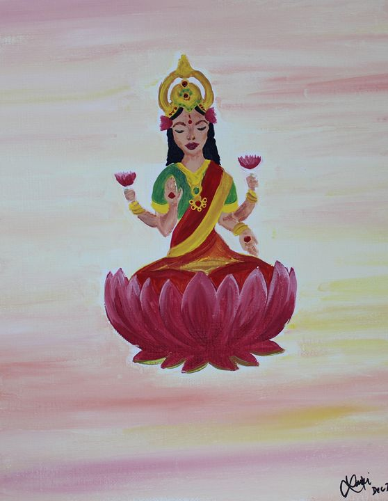 Goddess Meditating - Laxmi M