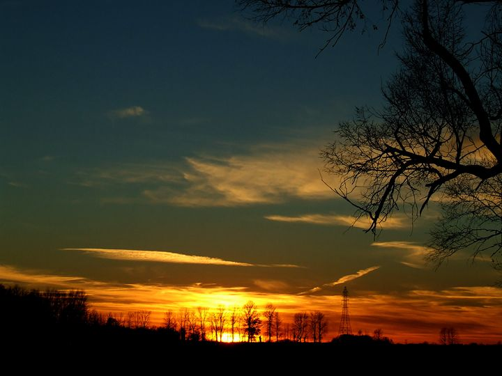 Fire sky#2 - Scott Bennett/Photoscapes Landscapes Ohio