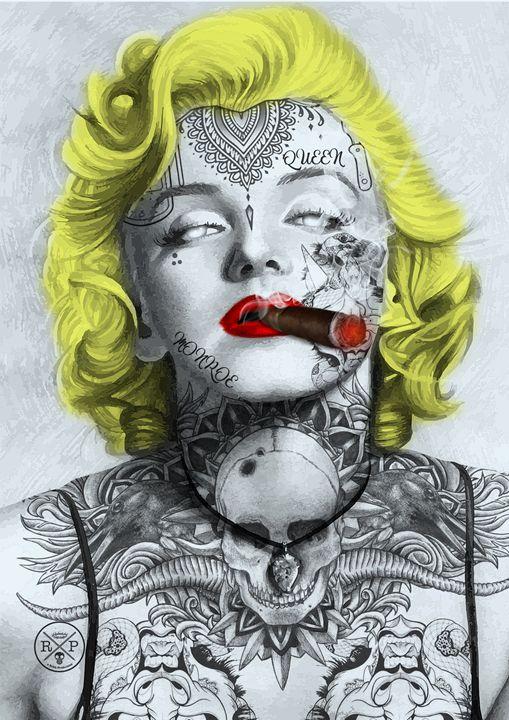 Marilyn Tattooed Monroe - A Rokk Production