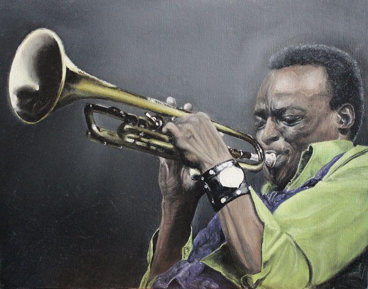 Miles Davis Original Oil Painting - JT Simmonds